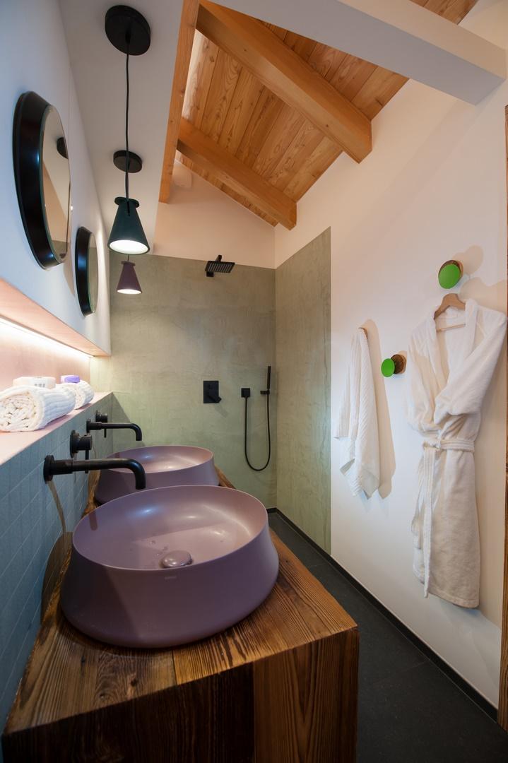 chalet de charme salle de bain à briançon