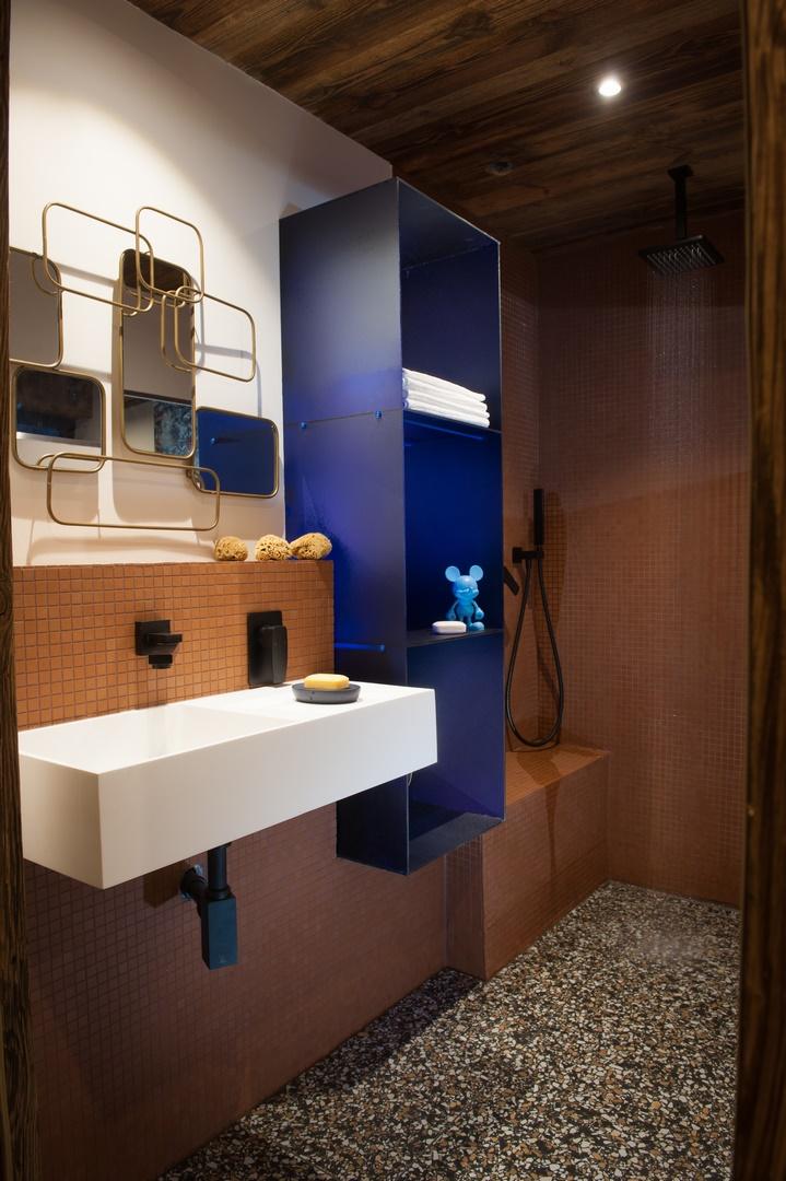 Chalets de groupes de luxe salle de bain vers Monêtier les Bains
